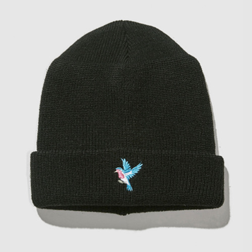 [트웰라이브]BLUEBIRD WATCH CAP BLACK