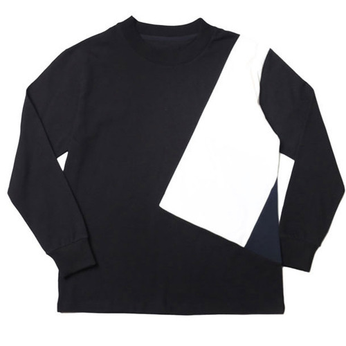 [레이지]COLOR LINE LONG SLEEVE T-SHIRTS BLACK