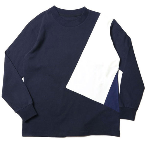 [레이지]COLOR LINE LONG SLEEVE T-SHIRTS NAVY