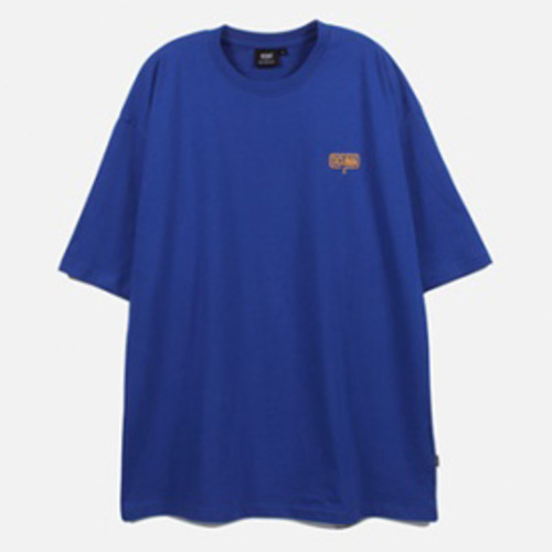 [디쿠마]BIG SIZE EMBROIDERED LOGO TEE (Blue)