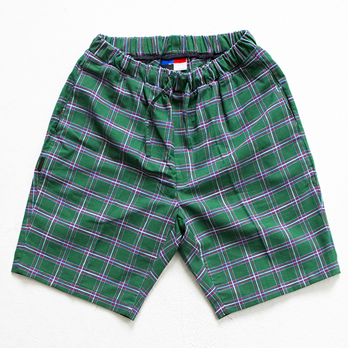 [아워히스토리]color chk 1/2 pants_green