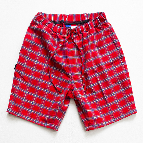[아워히스토리]color chk 1/2 pants_red