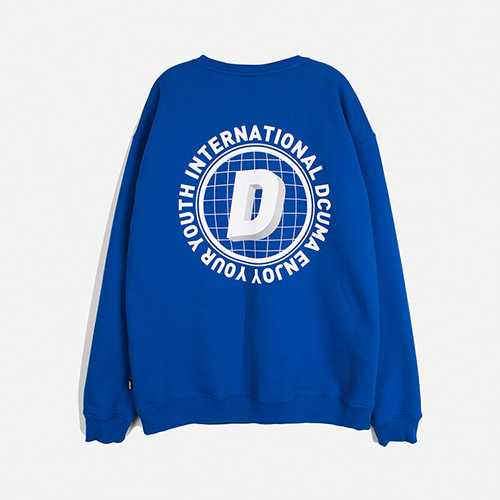 [디쿠마] D LOGO FLEECE SWEATSHIRT_BLUE