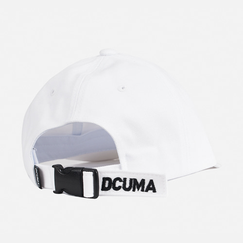 [디쿠마] D LOGO BUCKLE CAP_WHITE