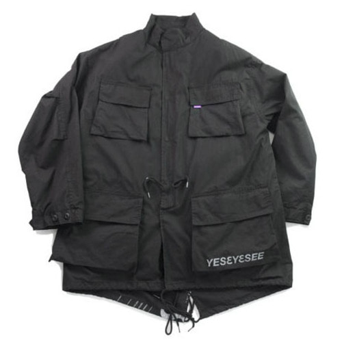 [예스아이씨]Y.E.S Multi Fishtail Parka Black