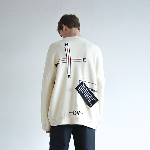 [오와이]OY DISPARITION CARDIGAN - IVORY