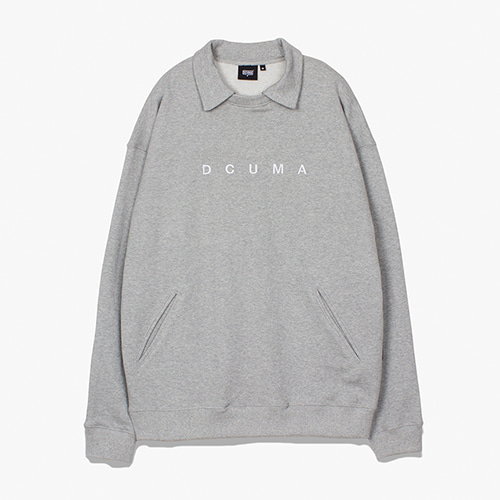 [디쿠마] COLLAR SWEAT SHIRT_GREY