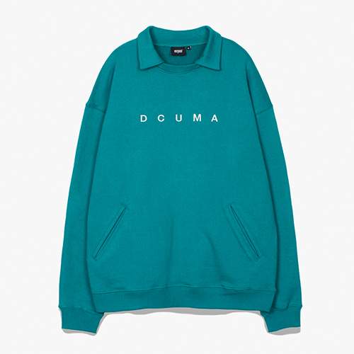 [디쿠마] COLLAR SWEAT SHIRT_GREEN
