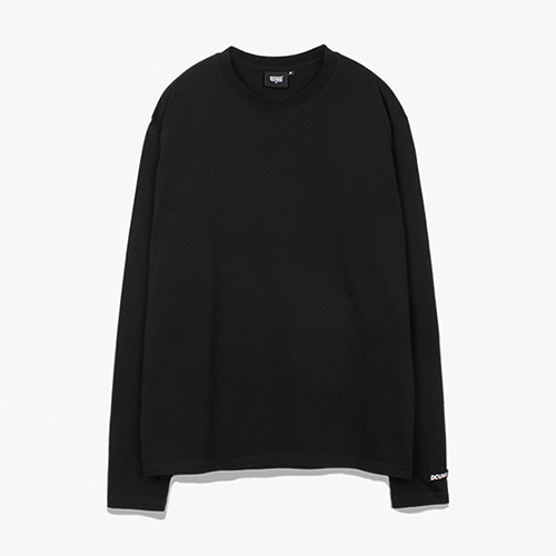 [디쿠마] PL LAYERED L/S TEE_BLACK