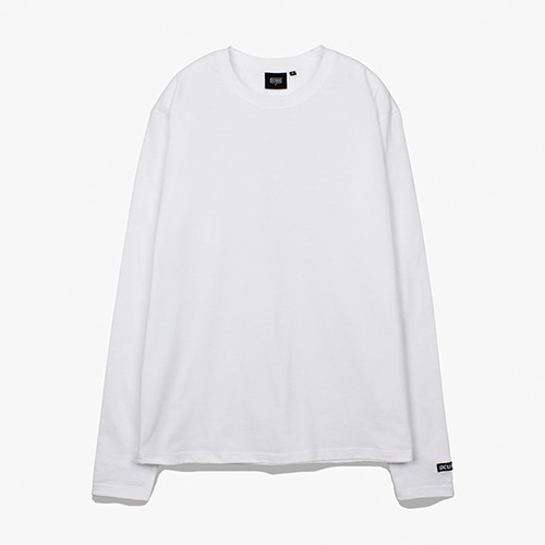 [디쿠마] PL LAYERED L/S TEE_WHITE