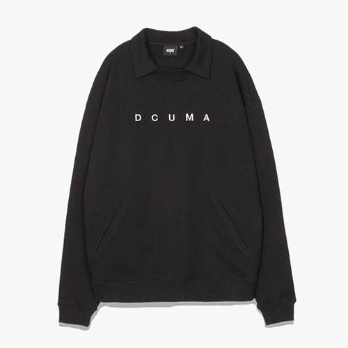 [디쿠마] COLLAR SWEAT SHIRT_BLACK