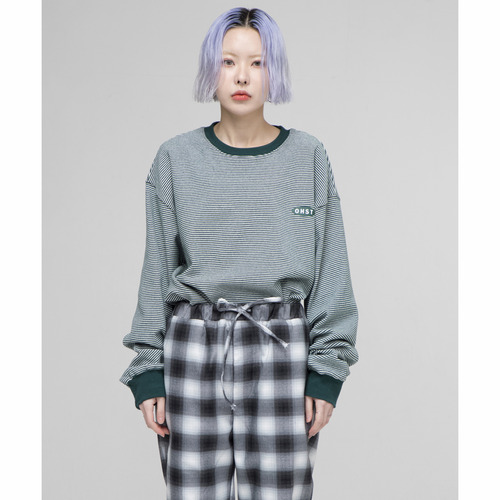 [아워히스토리]OHST Stripe Long Sleeve T-shirt_Green