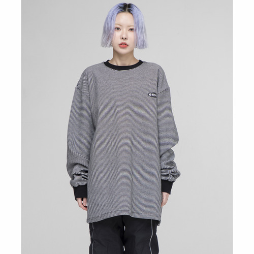 [아워히스토리]OHST Stripe Long Sleeve T-shirt_Black
