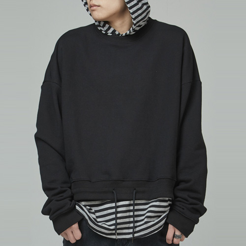 [테이크이지] CROP STRING M to M (BLACK)