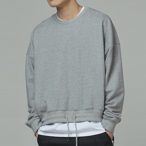 [테이크이지] CROP STRING M to M (GRAY)