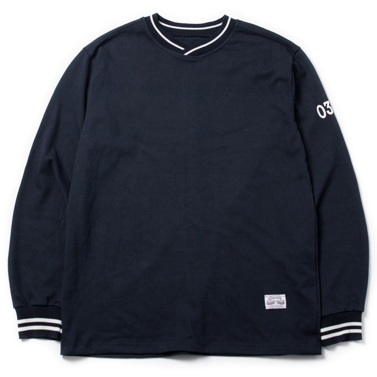 [콘보이] 03 Shawl Collar t-shirt navy