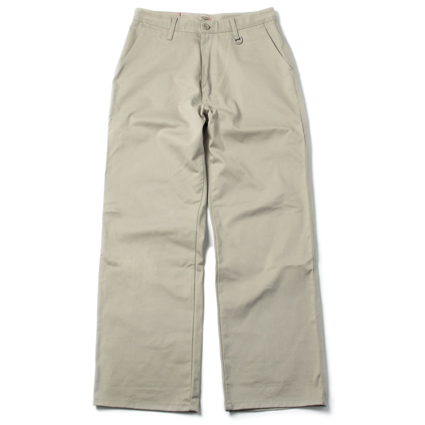 [콘보이] cotton D ring wide pants light khaki