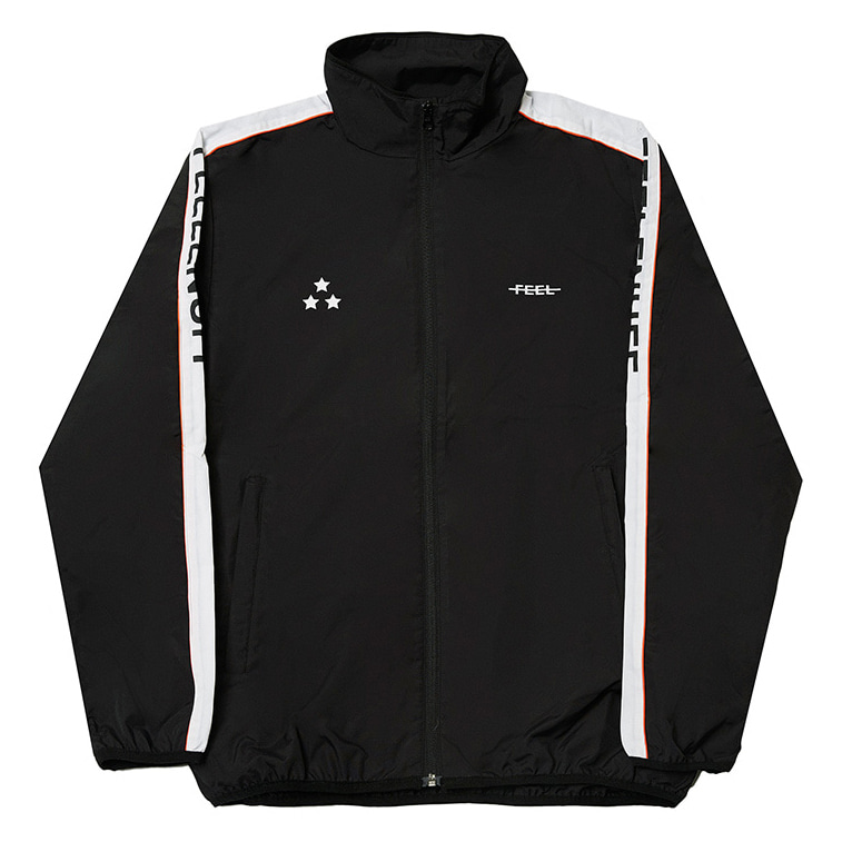 [필이너프]PIPING TRACK JACKET BLACK