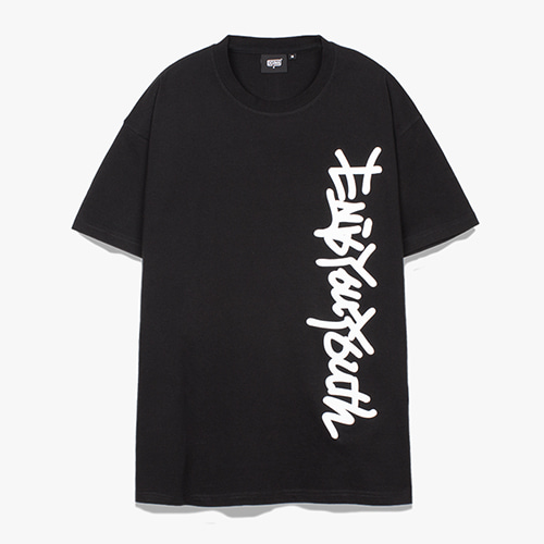 [디쿠마] SIDE SLOGAN TEE_BLACK