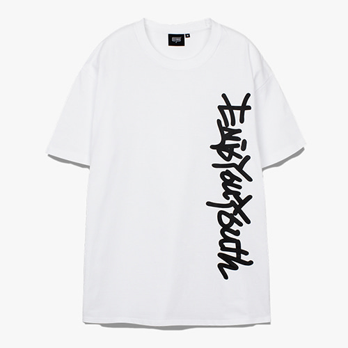[디쿠마] SIDE SLOGAN TEE_WHITE