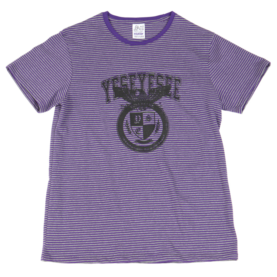 [예스아이씨]Stripe Tee Purple