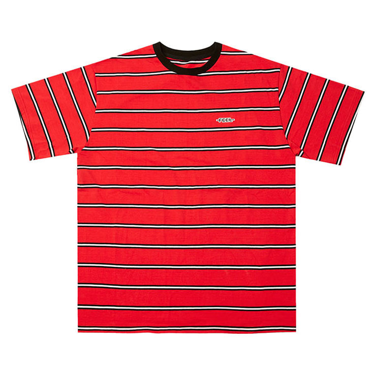 [필이너프]BORDER T-SHIRTS RED