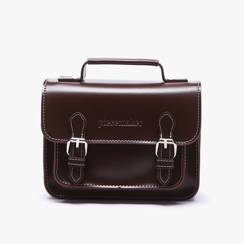 [피스메이커]LEATHER SATCHEL BAG MINI (BURGUNDY)