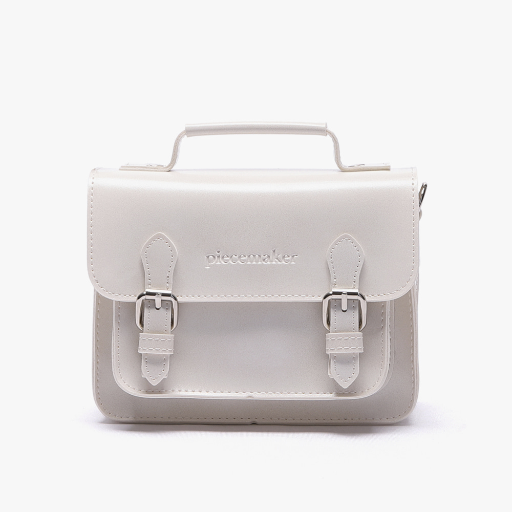 [피스메이커]LEATHER SATCHEL BAG MINI (IVORY)