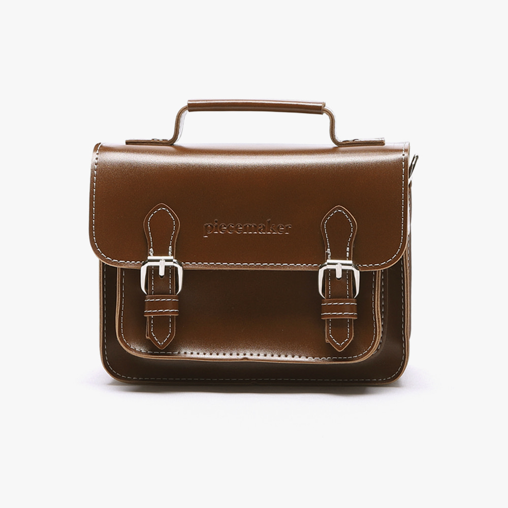 [피스메이커]LEATHER SATCHEL BAG MINI (BROWN)