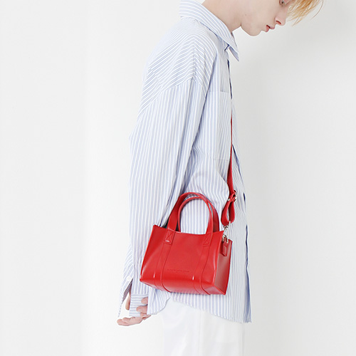 [피스메이커]LEATHER 3WAY MINI BAG (RED)