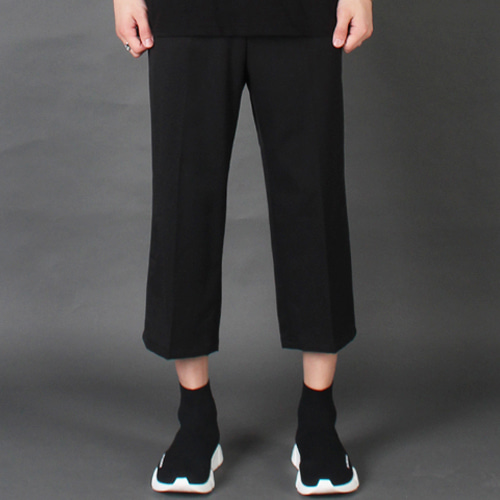 [테이크이지]CROP WIDE SLACKS