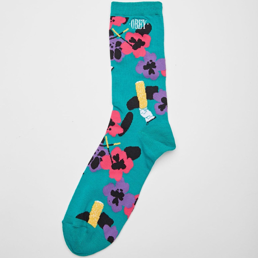 [오베이]ASHED OUT SOCKS - TEAL MULTI