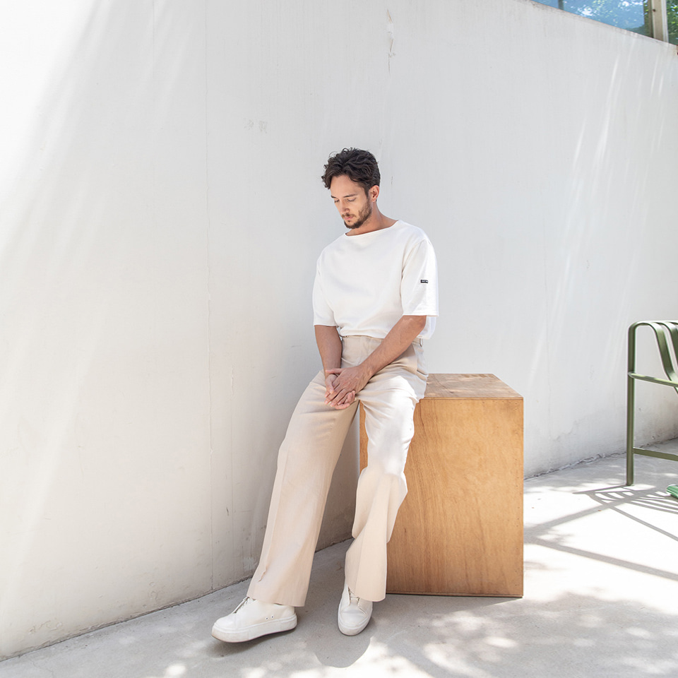 [알로스]Panel Linen Trousers [ Cocoon Beige ]
