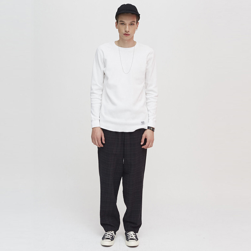 [더 맨 프로덕트]MP-015 Check Pants_Black