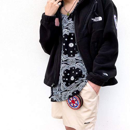 [4BLESS] Paisley Layered Sleeve (Black/White)