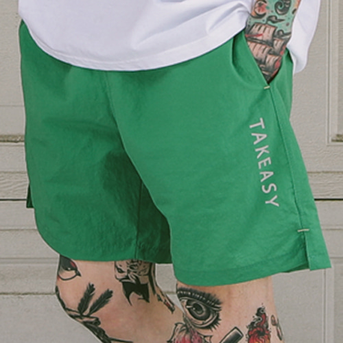 [테이크이지]3M SCOTCH SHORT PANTS (GREEN)