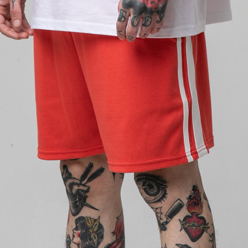 [테이크이지]LINE SHORT PANTS (ORANGE)