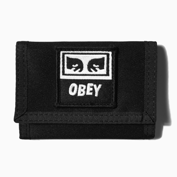 [오베이]DROP OUT TRI FOLD WALLET - BLACK 지갑