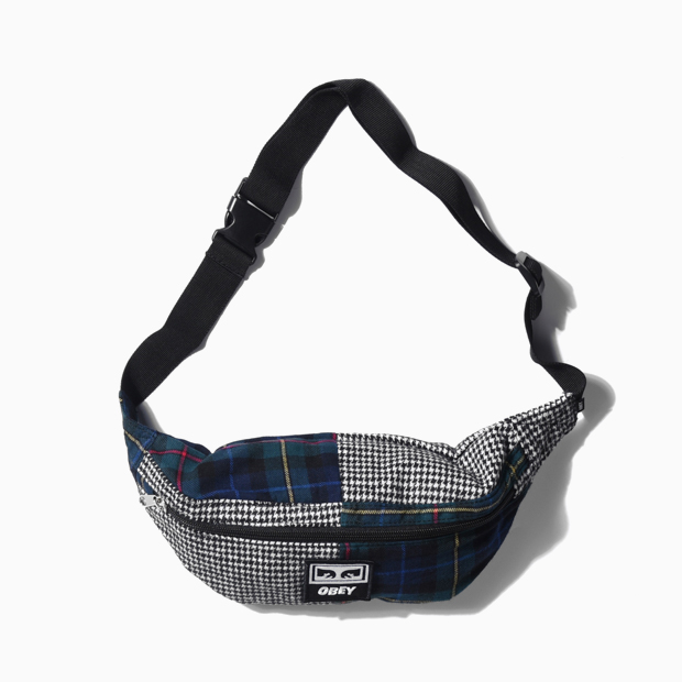 [오베이]PATCHED DAILY SLING PACK - PLAID MULTI 스몰백