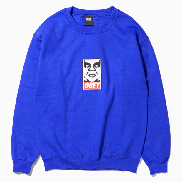 [오베이]OBEY ICON FACE - ROYAL BLUE  크루넥