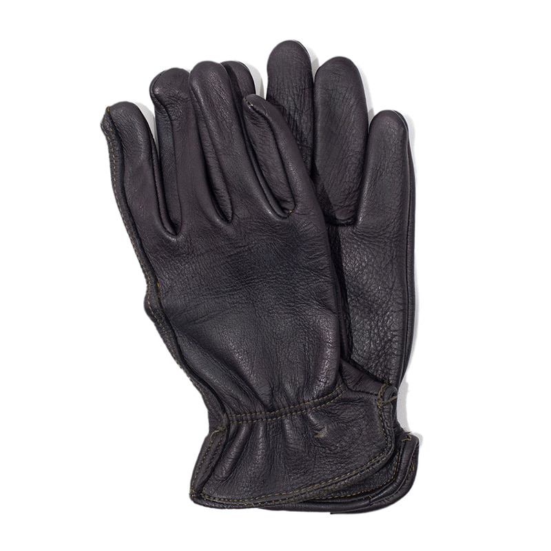 [에이징CCC]HAND DYEING DRIVERS GLOVES-BLACK