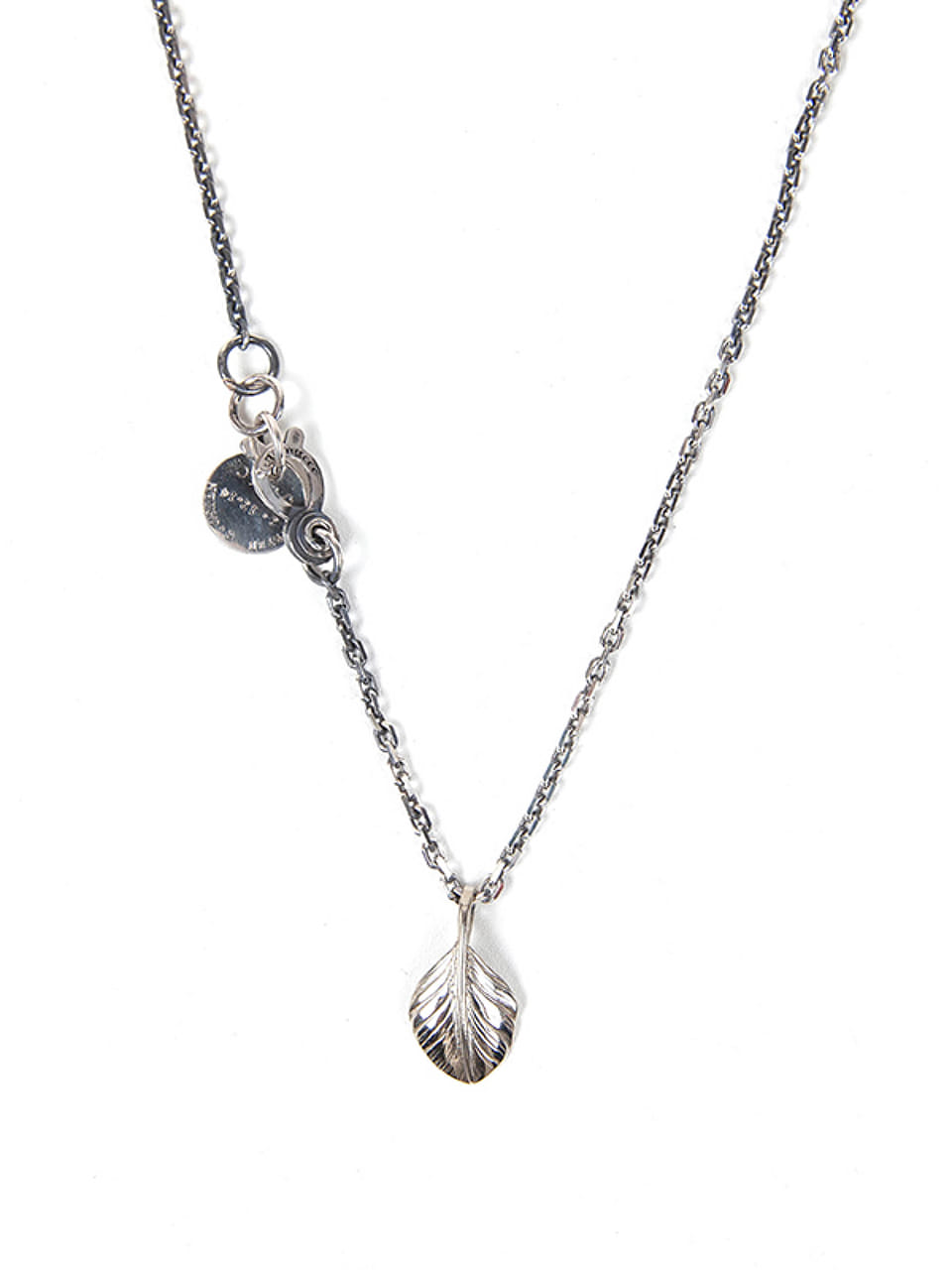 [에이징CCC]347# SMALL FEATHER NECKLACE