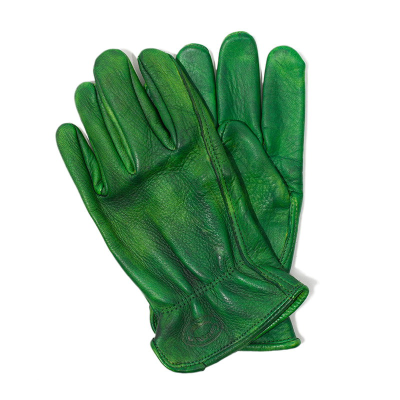 [에이징CCC]HAND DYEING DRIVERS GLOVES-GREEN