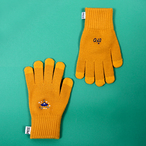 [피스메이커]SPACE UNIT SMART GLOVES (MUSTARD)