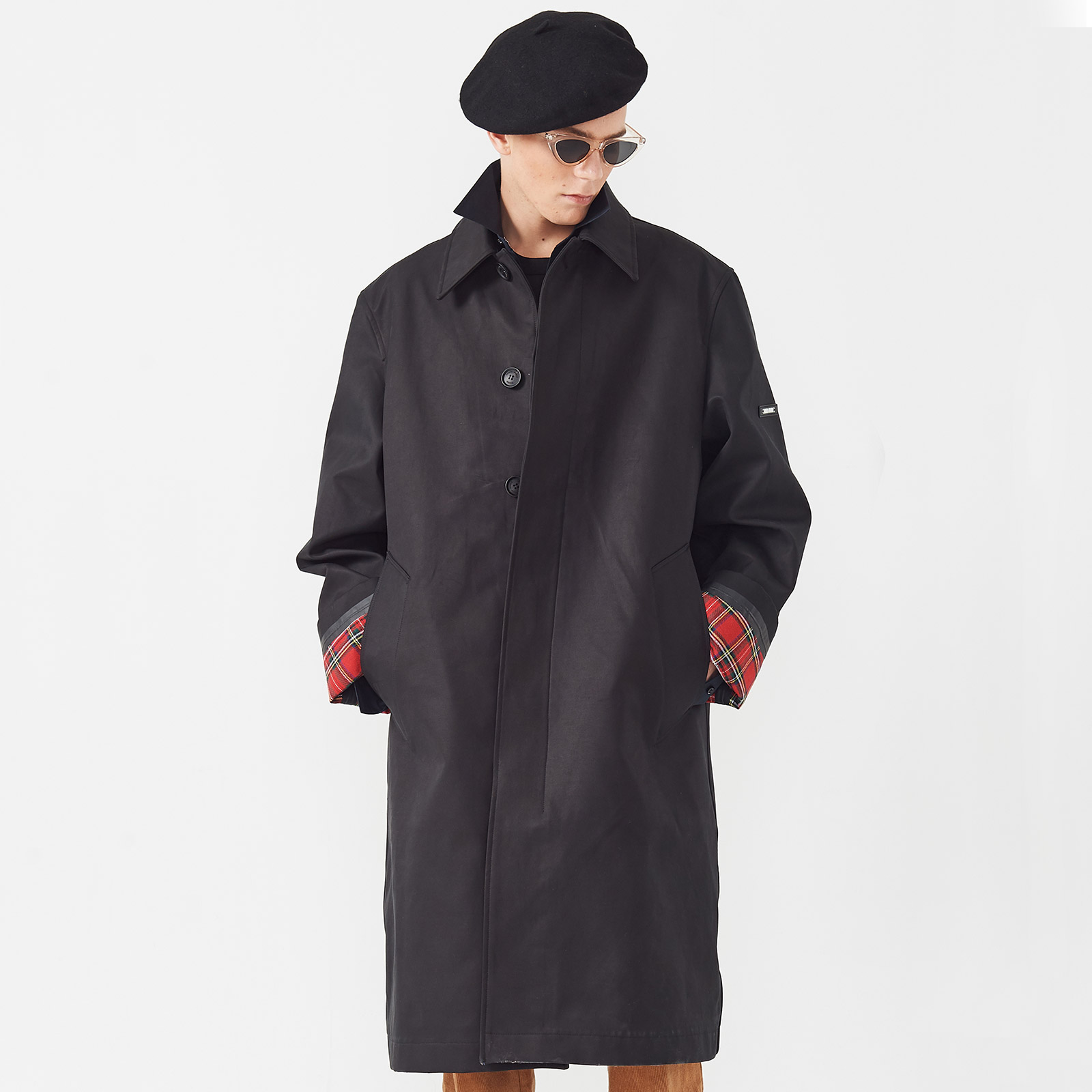 [엠엠아이씨]OVERSIZED SEAM SEALED COAT - BLACK-[JK-704-BK]