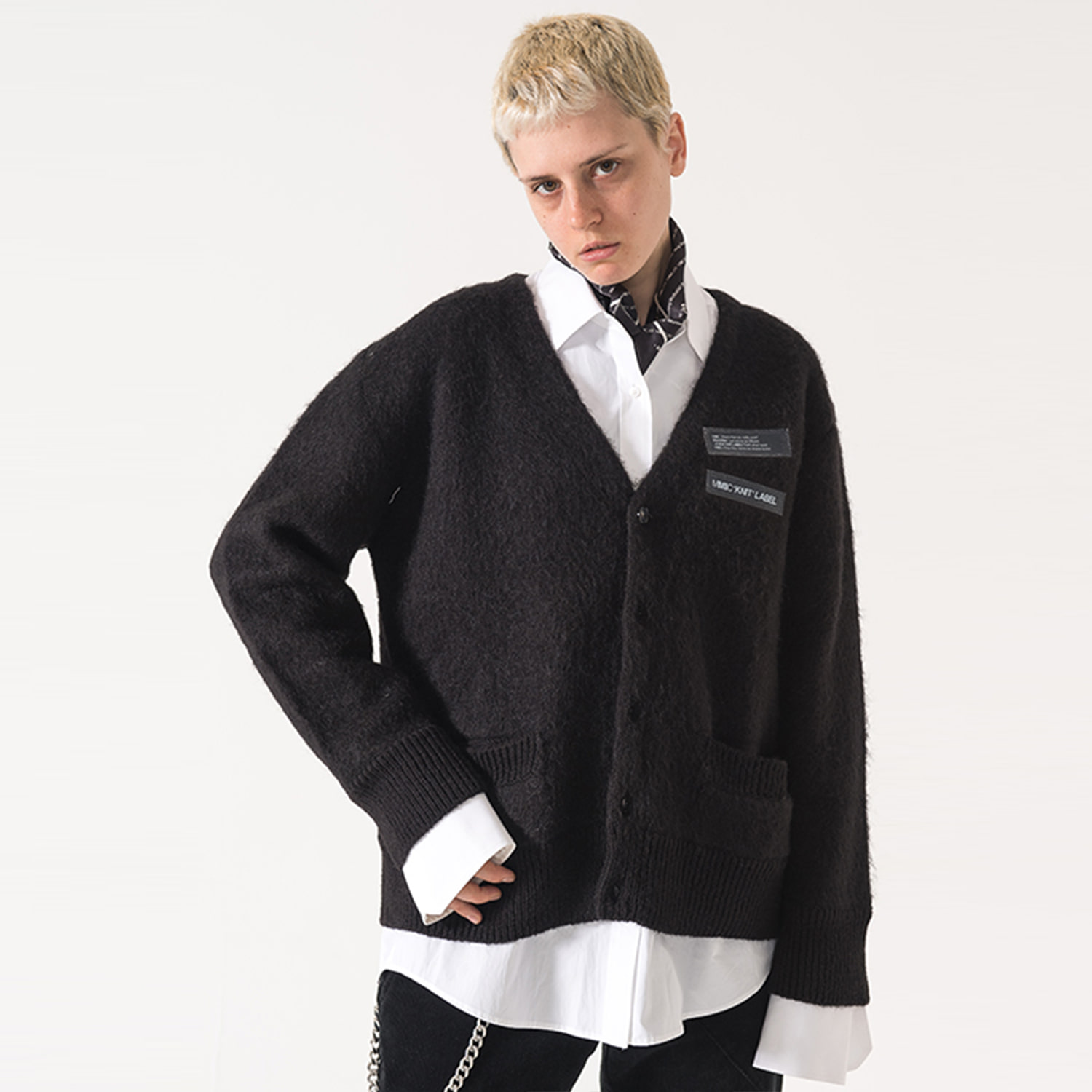 [엠엠아이씨]MOHAIR CARDIGAN (BLACK) - MM-KN-101-1