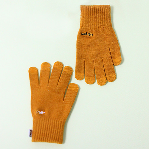 [피스메이커]PETIT GARCON SMART GLOVES (MUSTARD)