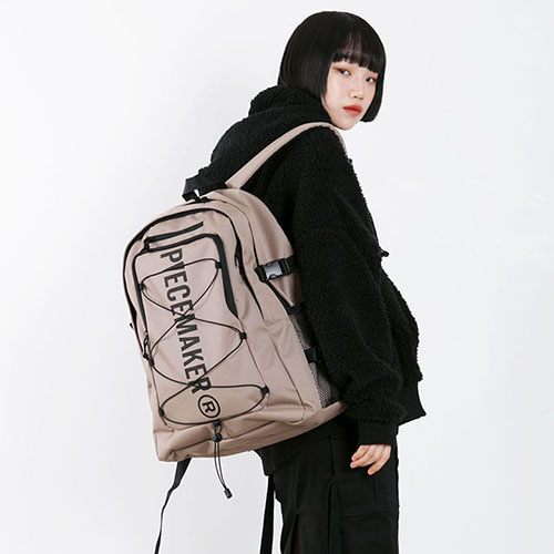 [피스메이커]STRING SQUARE BACKPACK (KHAKI BEIGE)