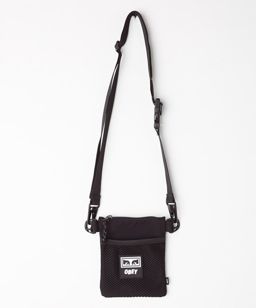 [오베이] CONDITIONS SIDE POUCH - BLACK
