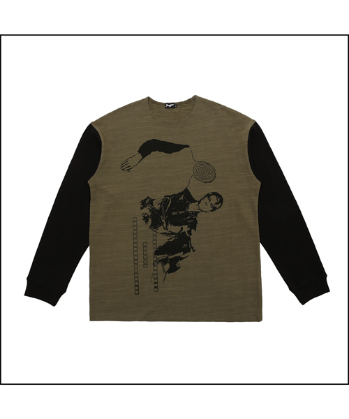 [아이사피] 12 Bowie Long Sleeve olv&bk